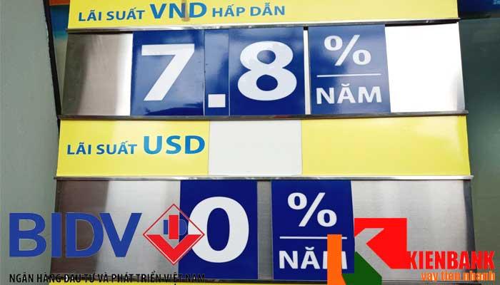 Lãi suất ngân hàng BIDV luôn hỗ trợ nhiều khách hàng