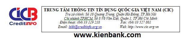 TRUNG TÂM THÔNG TIN TÍN DỤNG QUỐC GIA VIỆT NAM (CIC)