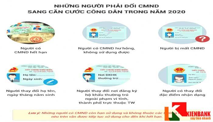 Những trường hợp phải đổi CMND sang thẻ căn cước